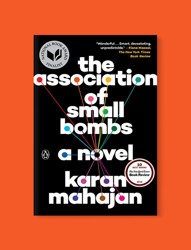 Best Book Covers 2016, The Association of Small Bombs by Karan Mahajan - book covers, book covers 2016, book design, best book covers, best book design, cover design, best covers, book cover design, book designers, design inspiration, cover design inspiration, book cover ideas, book design ideas, cover design ideas, book typography, book cover typography, book cover illustration, book cover design ideas