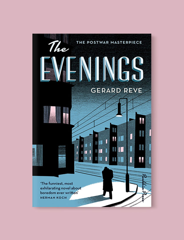 Best Book Covers 2016, The Evenings by Gerard Reve - book covers, book covers 2016, book design, best book covers, best book design, cover design, best covers, book cover design, book designers, design inspiration, cover design inspiration, book cover ideas, book design ideas, cover design ideas, book typography, book cover typography, book cover illustration, book cover design ideas