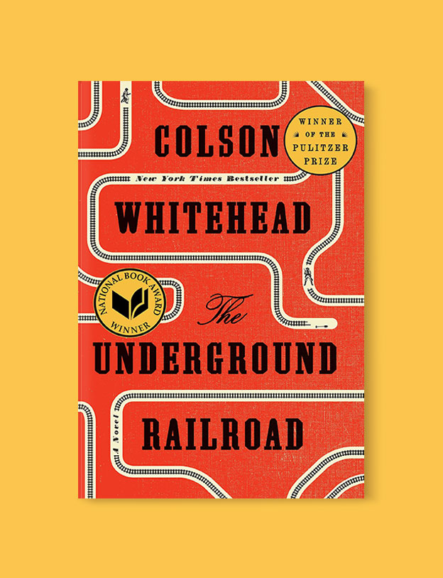 Best Book Covers 2016, The Underground Railroad by Colson Whitehead - book covers, book covers 2016, book design, best book covers, best book design, cover design, best covers, book cover design, book designers, design inspiration, cover design inspiration, book cover ideas, book design ideas, cover design ideas, book typography, book cover typography, book cover illustration, book cover design ideas
