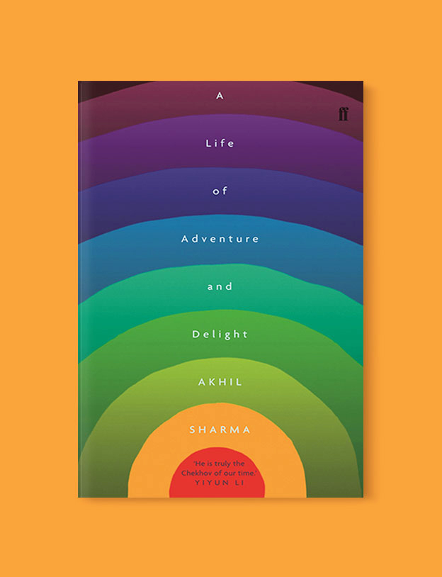 Best Book Covers 2017, A Life of Adventure and Delight by Akhil Sharma - book covers, book covers 2017, book design, best book covers, best book design, cover design, best covers, book cover design, book designers, design inspiration, cover design inspiration, book cover ideas, book design ideas, cover design ideas, book typography, book cover typography, book cover illustration, book cover design ideas