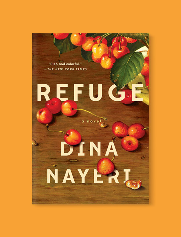 Best Book Covers 2017, Refuge by Dina Nayeri - book covers, book covers 2017, book design, best book covers, best book design, cover design, best covers, book cover design, book designers, design inspiration, cover design inspiration, book cover ideas, book design ideas, cover design ideas, book typography, book cover typography, book cover illustration, book cover design ideas