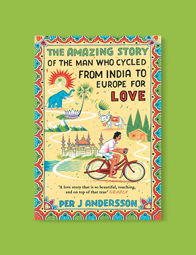 Best Book Covers 2017, The Amazing Story of the Man Who Cycled from India to Europe for Love by Per J. Andersson - book covers, book covers 2017, book design, best book covers, best book design, cover design, best covers, book cover design, book designers, design inspiration, cover design inspiration, book cover ideas, book design ideas, cover design ideas, book typography, book cover typography, book cover illustration, book cover design ideas