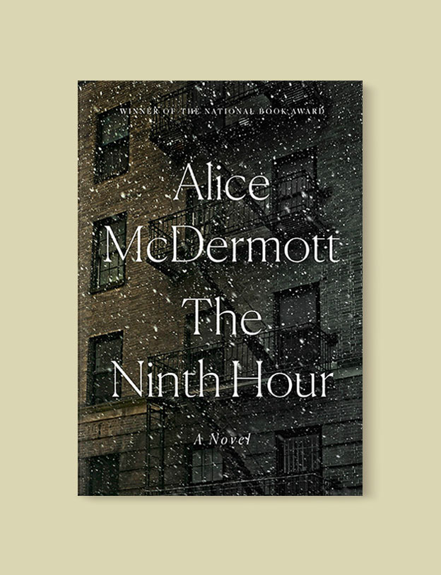 Best Book Covers 2017, The Ninth Hour by Alice McDermott - book covers, book covers 2017, book design, best book covers, best book design, cover design, best covers, book cover design, book designers, design inspiration, cover design inspiration, book cover ideas, book design ideas, cover design ideas, book typography, book cover typography, book cover illustration, book cover design ideas