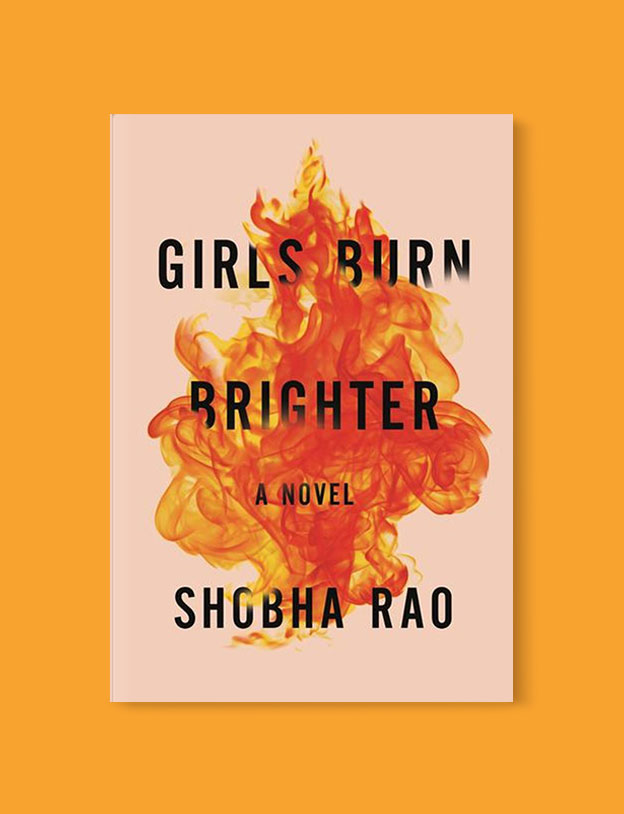 Best Book Covers 2018, Girls Burn Brighter by Shobha Rao - book covers, book covers 2018, book design, best book covers, best book design, cover design, best covers, book cover design, book designers, design inspiration, cover design inspiration, book cover ideas, book design ideas, cover design ideas, book typography, book cover typography, book cover illustration, book cover design ideas