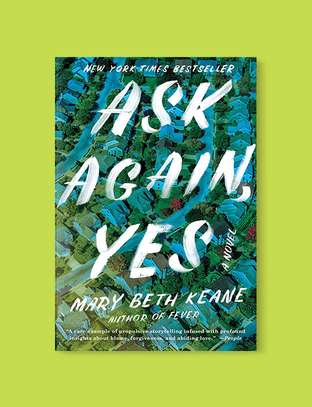 Best Book Covers 2019, Ask Again, Yes by Mary Beth Keane - book covers, book covers 2019, book design, best book covers, best book design, cover design, best covers, book cover design, book designers, design inspiration, cover design inspiration, book cover ideas, book design ideas, cover design ideas, book typography, book cover typography, book cover illustration, book cover design ideas