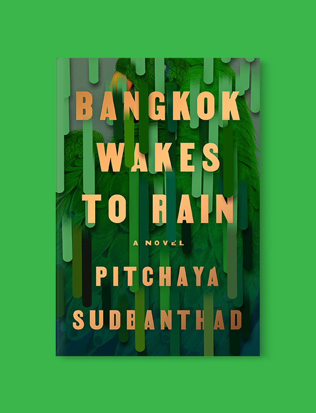Best Book Covers 2019, Bangkok Wakes to Rain by Pitchaya Sudbanthad - book covers, book covers 2019, book design, best book covers, best book design, cover design, best covers, book cover design, book designers, design inspiration, cover design inspiration, book cover ideas, book design ideas, cover design ideas, book typography, book cover typography, book cover illustration, book cover design ideas
