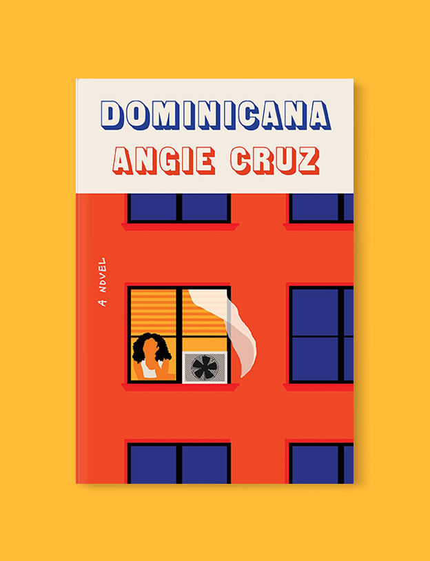 Best Book Covers 2019, Dominicana by Angie Cruz - book covers, book covers 2019, book design, best book covers, best book design, cover design, best covers, book cover design, book designers, design inspiration, cover design inspiration, book cover ideas, book design ideas, cover design ideas, book typography, book cover typography, book cover illustration, book cover design ideas