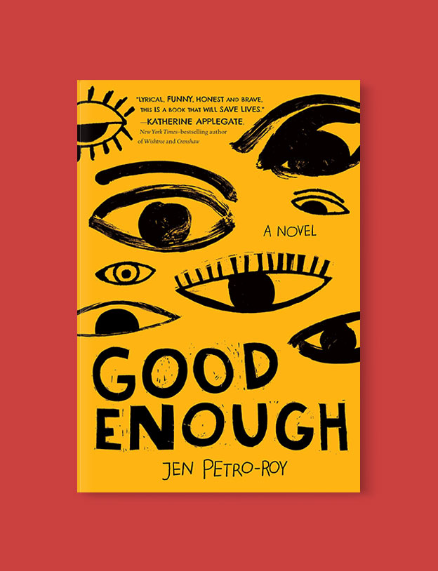 Best Book Covers 2019, Good Enough by Jen Petro-Roy - book covers, book covers 2019, book design, best book covers, best book design, cover design, best covers, book cover design, book designers, design inspiration, cover design inspiration, book cover ideas, book design ideas, cover design ideas, book typography, book cover typography, book cover illustration, book cover design ideas